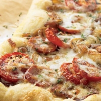 Romanian Sausage Pizza with Onion Confit Dinner