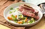 Canadian Grilled Coriander Beef With Carrot Couscous Salad Recipe Dinner
