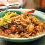 American Creole Gumbo with Chicken and Shrimp Dinner