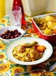 Algerian Pasta with Bharatspiced Chicken and Vegetables Appetizer