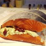 Canadian Stuffed Salmon in Fresh Cheese and to the Pesto Appetizer