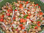American Warm Chickpea Salad With Shallots and Red Wine Vinaigrette Soup