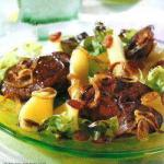 Canadian Salad of Chicken Livers with Apples Appetizer