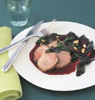 Romanian Pork Tenderloin with Sauteed Beet Greens and Roasted Beets 1 Dinner