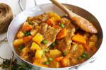 American Slowcooked Lamb And Chunky Vegetable Stew Recipe Appetizer