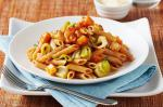 American Whole Grain Penne Rigate With Roasted Winter Vegetables Basilico Sauce And Pecorino Romano Cheese Recipe Dinner