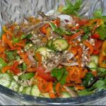 American Summer Salad with Peppers Appetizer