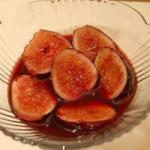 American Fresh Figs in Red Wine Sauce Appetizer