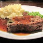 American Meatloaf with Spinach and Mushrooms Appetizer