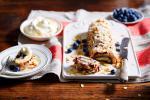 Canadian Rolled Savoy Sponge with Blueberries biscuit De Savoie Roule Aux Myrtilles Appetizer