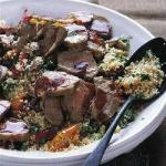 Moroccan Salad of Couscous and Lamb Moroccan Style Appetizer