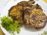 American Pork Steaks With a Orange Rosemary Sauce Dinner