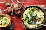 American Lamb Cutlets With Pistachio And Fresh Herb Pilaf Recipe Dinner