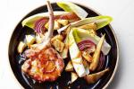 American Sticky Honey Pork With Roast Parsnip And Pear Salad Recipe BBQ Grill