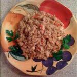 American Chicken Risotto with Cashew Nuts Dinner
