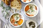 Canadian Smoked Salmon And Sour Cream Baked Eggs Recipe Appetizer