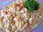 American Potato Salad With Pork and Beans  Eggs Appetizer