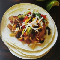 American chicken and black bean taco Dinner