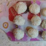 Canadian Homemade Coconut Balls with Hazelnuts Appetizer