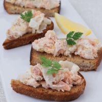 Italian Smoked Trout Crostini Appetizer