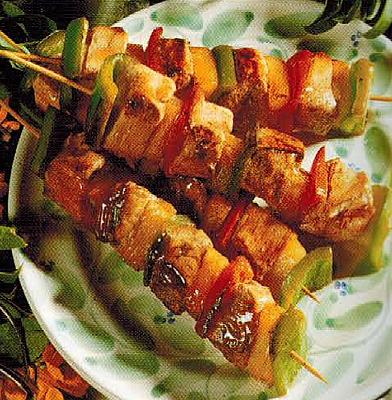 Greece Sweet And Sour Pork Kebabs BBQ Grill