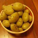 British Potatoes in Their Jackets Poached a Couple with Caraway Appetizer