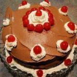 British Black Forest Cake with Cherries Dessert