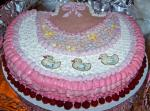 American Beautiful Baby Girl Bib Cake Dessert
