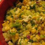 American Corn Salad with Cucumber Pepper and Feta Appetizer