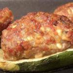 Canadian Courgettes Stuffed with  Meat Dinner