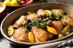 American Braised Chicken With Lemon and Olives Recipe Dinner
