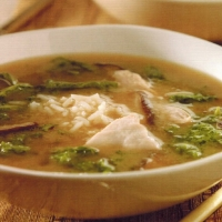 Japanese Chicken Miso Soup with Shiitake Mushrooms Soup