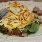 Canadian Omelet of Spinach with Linguica Appetizer