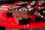 British Dark Chocolatecherry Ganache Bars Recipe Dessert
