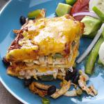 American Stacked Enchilada Appetizer