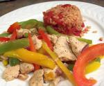 British Chicken Fajita Stirfry With Peppers Dinner