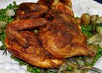 American Butterflied Grilled Chicken with Curry and Cumin Dinner