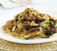 Chinese Crispy Beef and Noodle Stir Fry Dinner