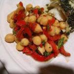 Australian Pepper Salad and Chick Peas Appetizer