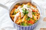 American Creamy Chicken Pea And Spinach Penne Recipe Dinner