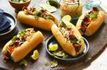 American Pork Belly Banh Mi With Pickled Pears And Kohlrabi Recipe Dessert