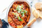 American Rich Tomato Salami And Chargrilled Vegetable Rigatoni Recipe Appetizer