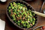 Portuguese Sauteed Garlic Broad Beans and Bacon With Coriander Recipe Appetizer