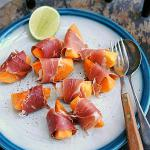 Australian Sweet Persimmon with Proscuitto Dessert