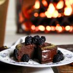 Australian Fergalicious Chocolate Cake with Blackberry Coulis Dessert