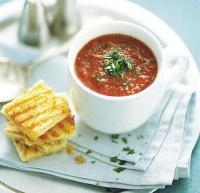 American Grilled Tomato and Red Pepper Gazpacho Soup