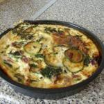British Quiche with Spinach Zucchini and Leeks Appetizer