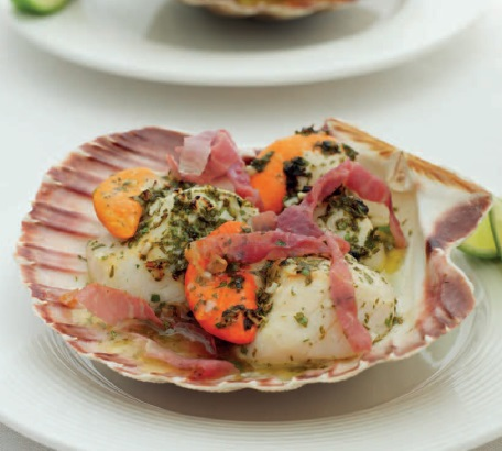 Grilled Scallops With Prosciutto And Lime Recipes — Dishmaps