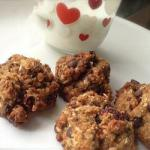 American Vegan Cookies with Oatmeal Cranberries and Chia Seeds Dessert