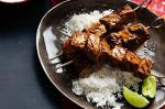 Indian Tandoori Beef Skewers With Coconut Rice And Raita Recipe Dinner